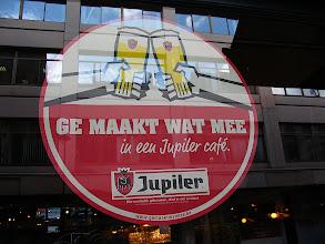 Photo: Jupiler sign on the window