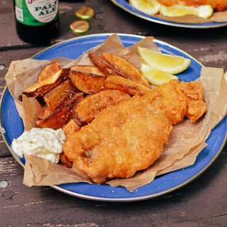 Beer Batter Fish Fry w/ Potato Wedges and Tartar Sauce