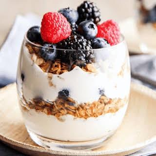 Yogurt Granola Parfait Cups.