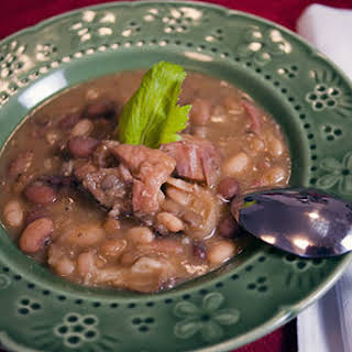 Leftover Ham and 15 bean Soup - A Holiday Staple.
