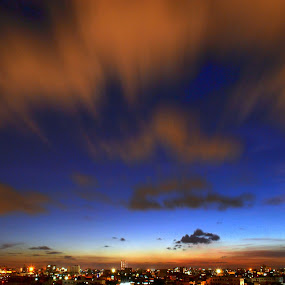 Sky of my city by Sandip Ghose - City,  Street & Park  Skylines ( sky, kolkata, slowshutter, pwcskylines, city )
