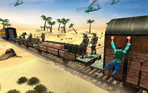 Mission Counter Attack Train Robbery Shooting Game apkpoly screenshots 3