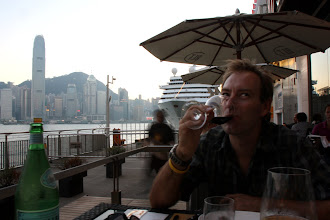 Photo: Day 195 -  Rog's Birthday Meal at Star Ferry Port in Victoria Harbour