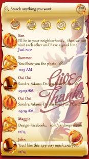 GO SMS THANKS THEME - náhled