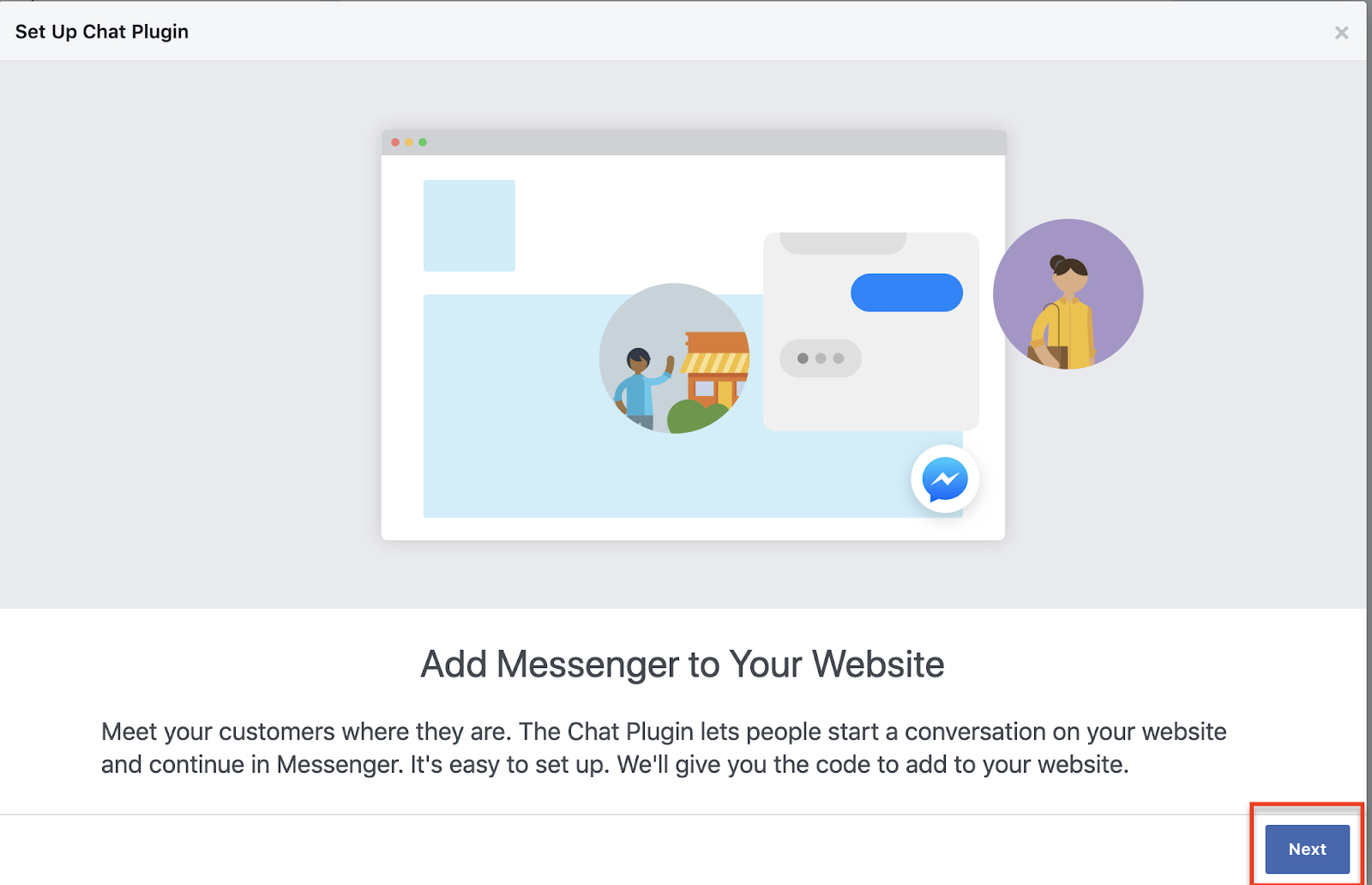 add Facebook Messenger to your website