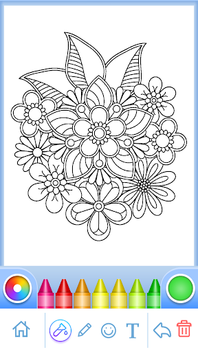 Coloring Book for Adults filehippodl screenshot 9