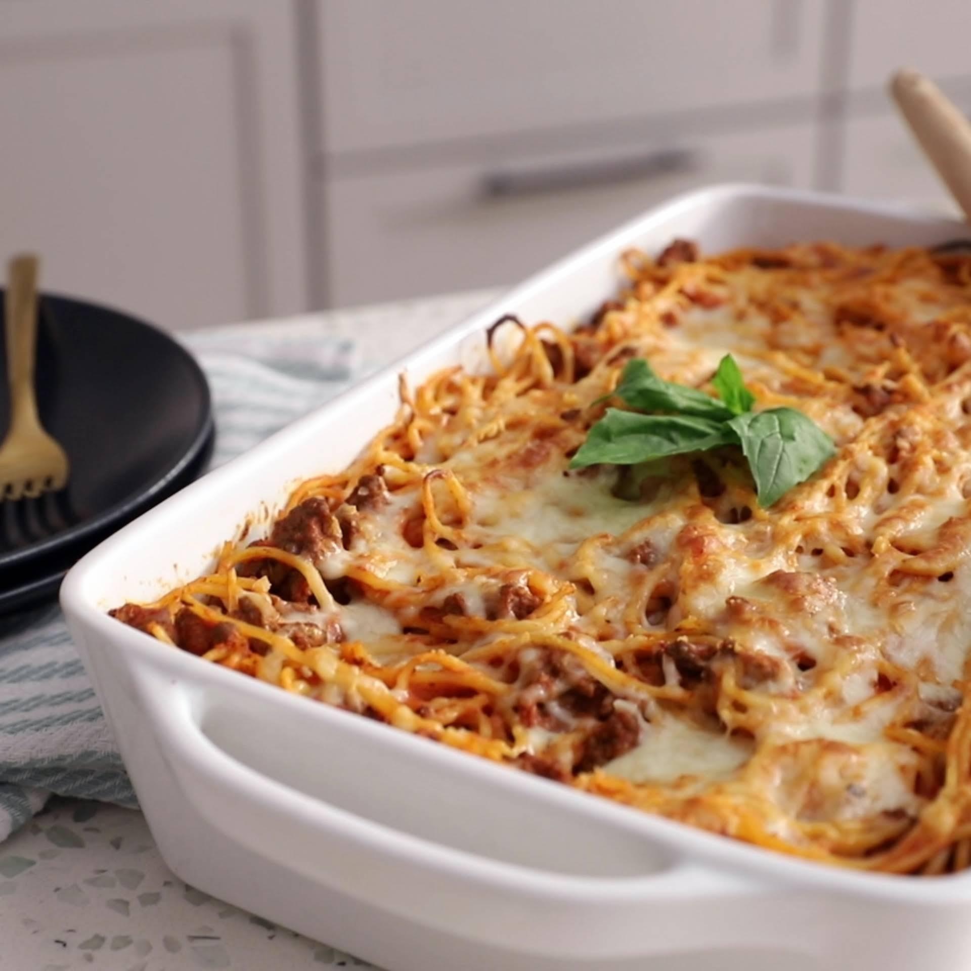 Easy Gluten-Free Baked Spaghetti