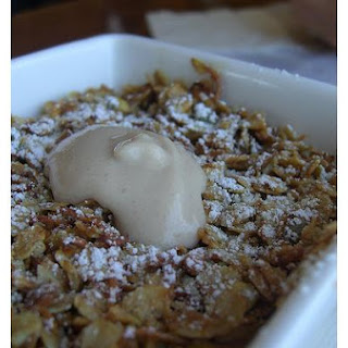 Baked Apple Pudding With Butter Sauce.