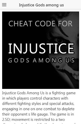 <b>Cheat code</b> for <b>Injustice</b> Gods Among Us APK download | APKPure.co