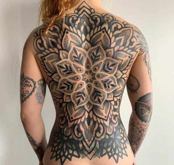 Karl Otto: Back tattoo