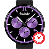 V-Revolution Purple watchface by Archimedes