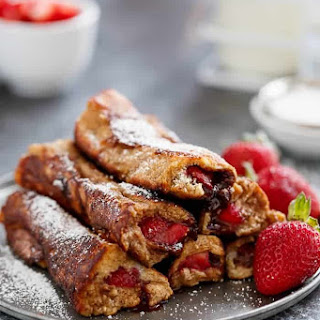 Gingerbread French Toast Roll Ups.