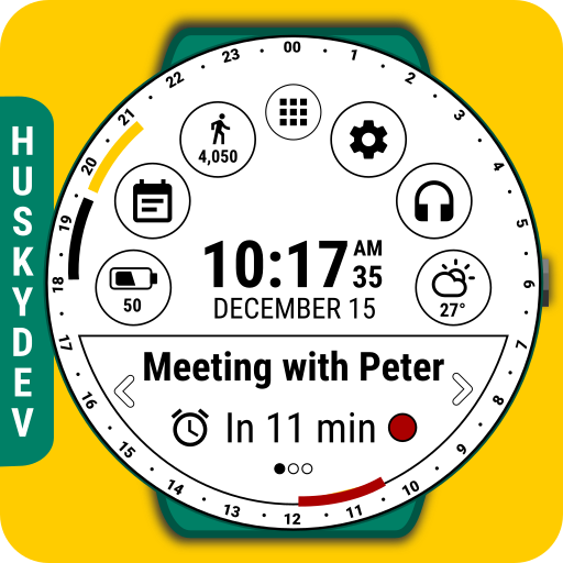 Calendar Watch Face (by HuskyDEV) file APK for Gaming PC/PS3/PS4 Smart TV