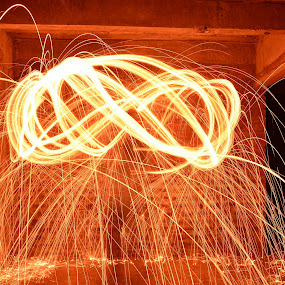 Swing SpaRk by प्रसाद जोशी - Abstract Light Painting ( steel wool, slow motion, swing, light, fire )