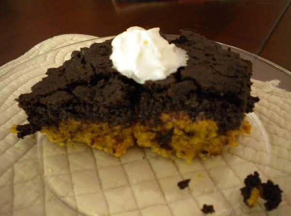 Dark Fudge Pumpkin Dump Cake