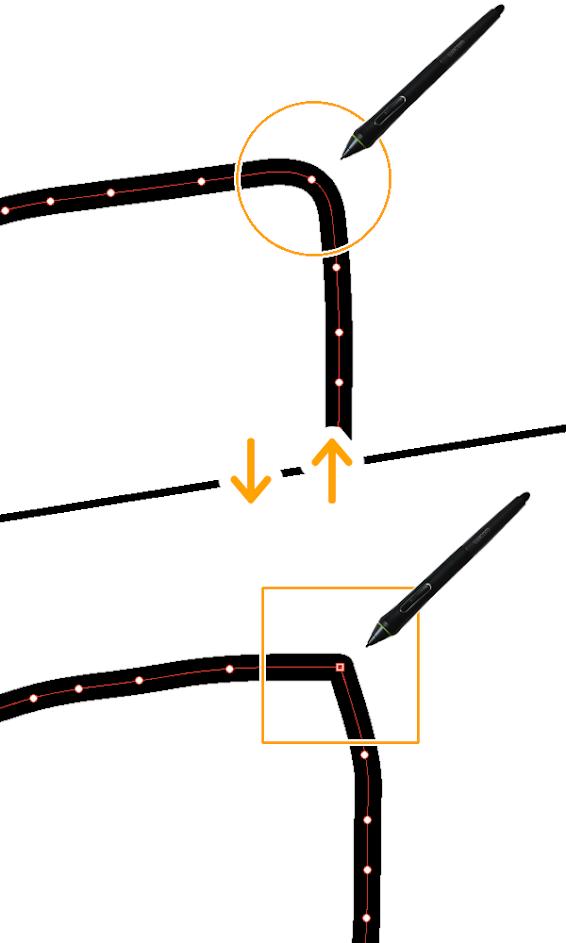 クリスタ:角の切り替え