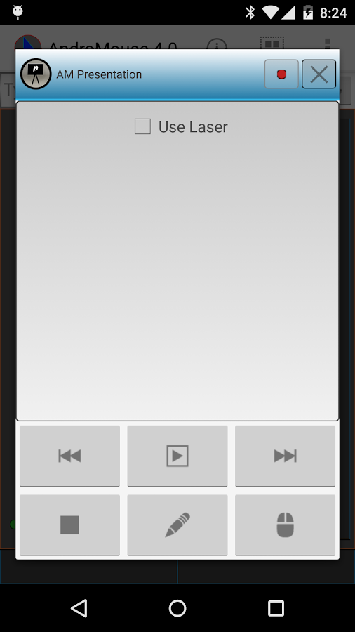 Remote Android Mouse - screenshot