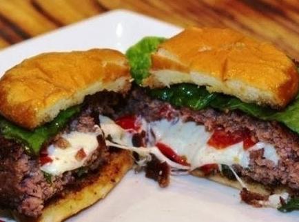 Jackie's Stuffed Hamburgers Recipe
