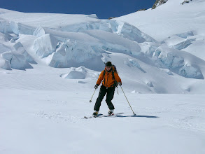 Photo: back country touring with telemark, alpine skis or split snow board