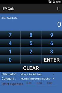 Calculator for eBay fee