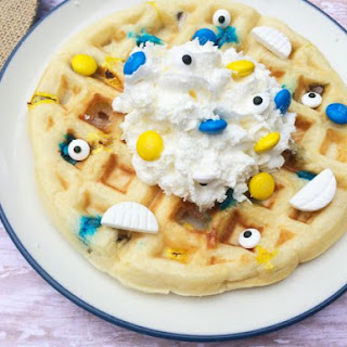 Melted Minion Waffles