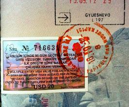 Photo: Mike's Turkish visa and passport stamp!