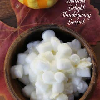 An Easy Pineapple Marshmallow Thanksgiving Dessert.