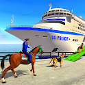 Police Cruise Ship Driving Animal Transporter icon
