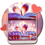 App Charming Book Heart Keyboard Theme APK for Windows Phone