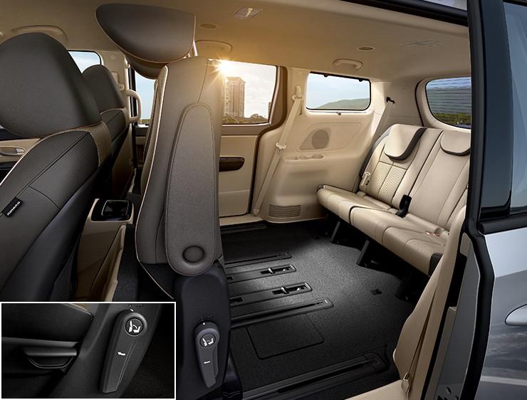 Xe Kia Sedona 2020 được thiết kế cho bảy người với không gian rộng rãi mang lại cảm giác dễ chịu cho người dùng