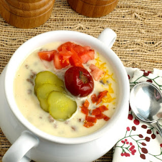 Pub Style Bacon Cheeseburger Soup