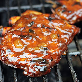 BBQ spare ribs recipe with Pineapple BBQ Sauce.