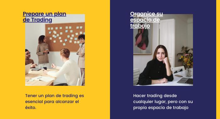 hacer un plan y organizar el trabajo en Forex