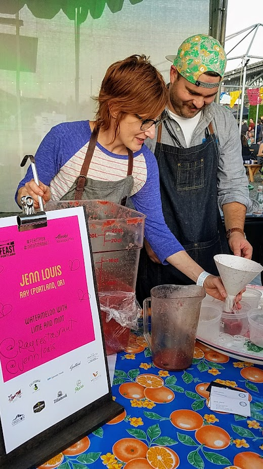 Recap of Feast Night Market 2017: Jenn Louis of Ray with Watermelon with Lime and Mint