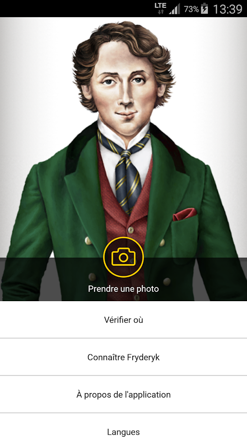 Selfie with Chopin – Capture d'écran