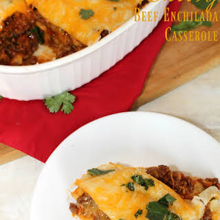 Cheesy Beef Enchilada Casserole.