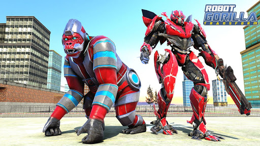 Gorilla Rampage City Attack Robot Transform Games 1.5 screenshots 1