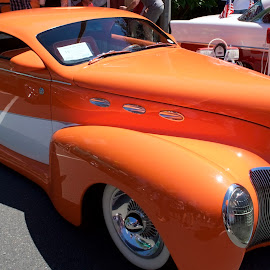 1939 Lincoln Zephyr by Dennis Rathbun - Transportation Automobiles ( orange, ar show, little windows, 1939, lincoln zephyr )