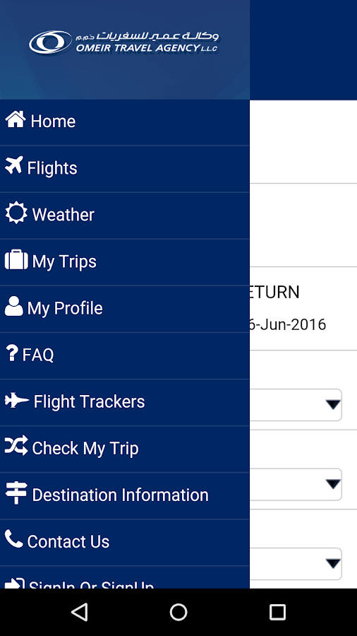 Omeir Travel- screenshot