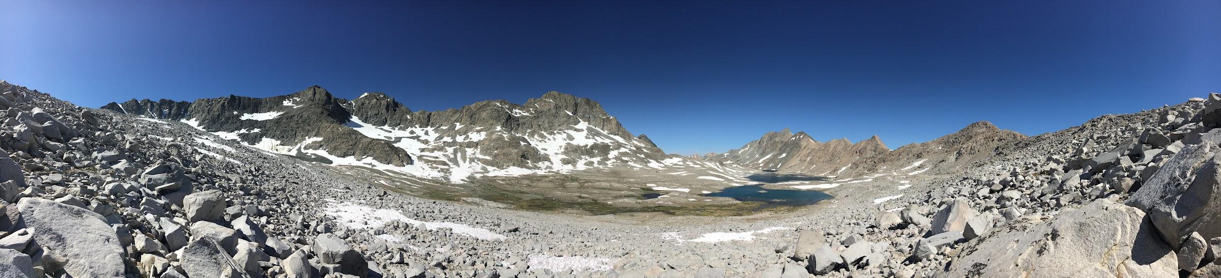 North Face Mount Goddard and Davis Lakes