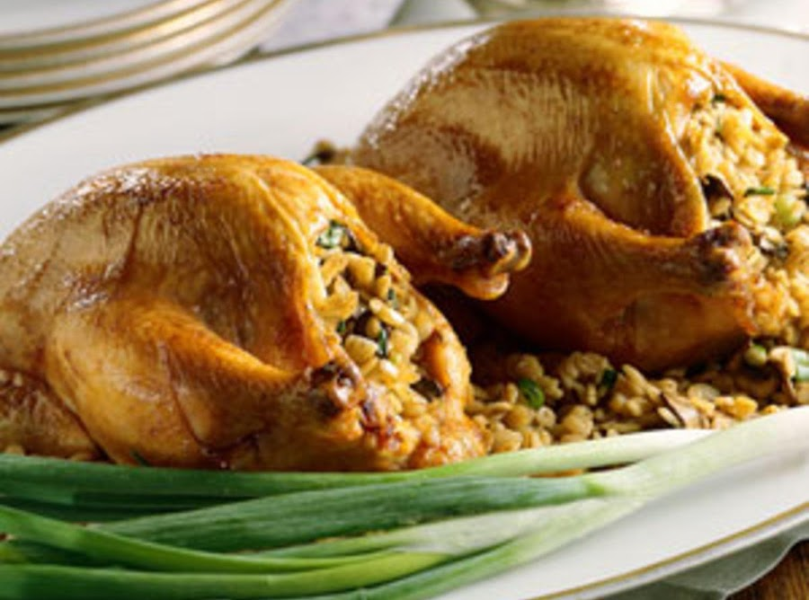 Cornish Game Hens With Stuffing Recipe Just A Pinch Recipes