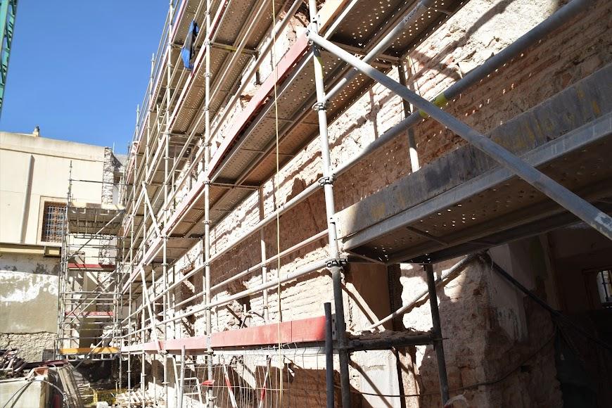 Obras de rehabilitación del antiguo Hospital Provincial, único edificio civil del siglo XVI que se mantiene en pie en la capital.