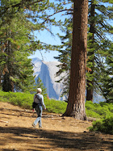 Photo: Hiking with a view of Half Dome