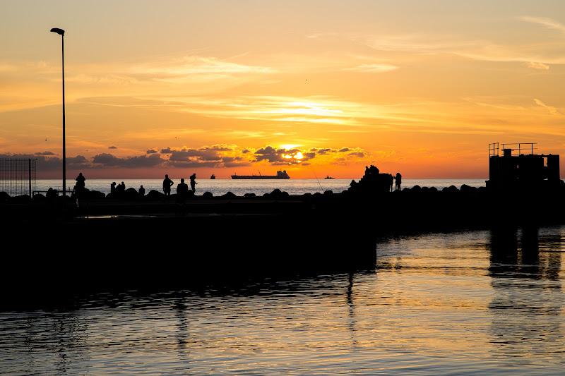 Darsena al tramonto di alessandro_lantieri