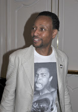 Photo: VFP Executive Director Michael McPhearson sporting Muhammed Ali on his chest
