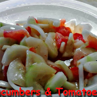 Cucumber Tomatoes Onion Vinegar Recipes