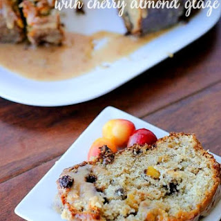 Cherry Banana Bread with Cherry Almond Glaze