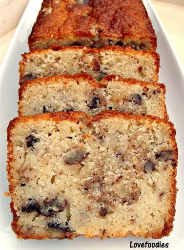 Moist Pecan Almond Loaf Cake