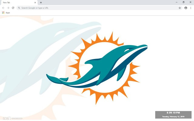 Miami Dolphins New Tab Theme