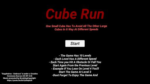 Cube Run 0.1 screenshots 1